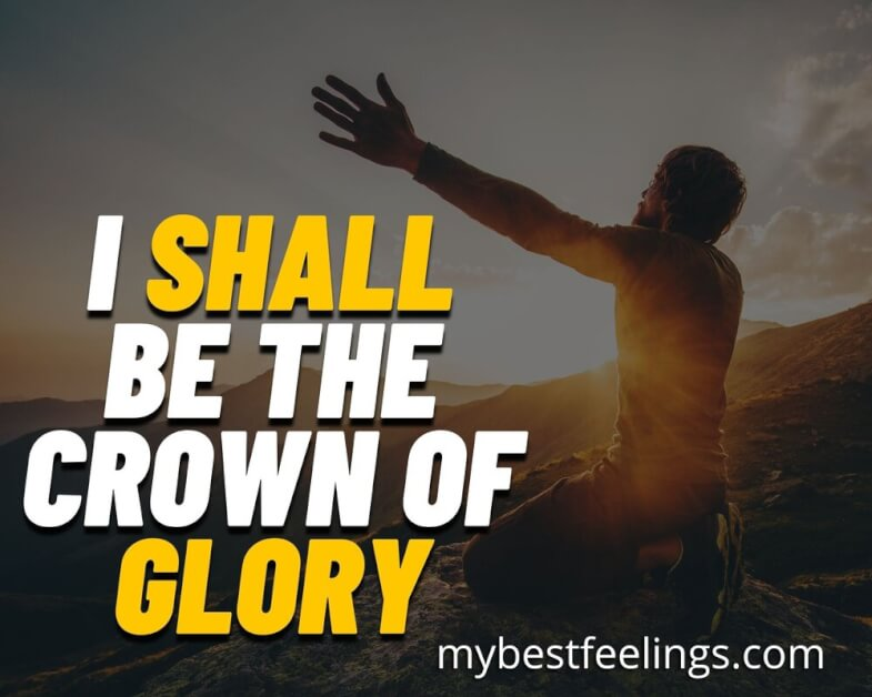 prayer points - I shall be a crown of glory